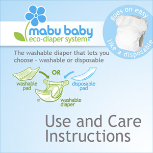 Mabu Baby Eco-Diaper Instruction Cover