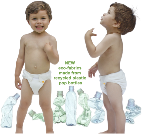 Mabu Baby Eco-Diaper baby with recycled bottles