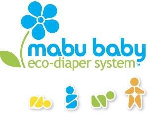 Mabu Baby Eco-Diaper Logo and Pictographs